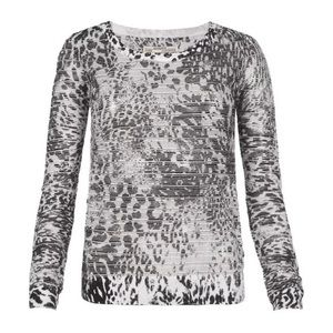 All Saints Haruko Leopard Top
